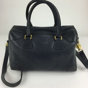 Gucci Vintage Dark Green Leather Satchel Handbag